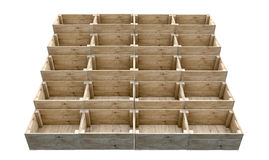 Stacked Wooden Crates Stock Images