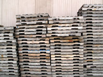 Stacked Wooden Palettes Royalty Free Stock Image