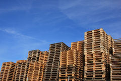 Free Stacked Wooden Pallets Royalty Free Stock Photos - 64503178