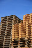 Stacked wooden pallets Royalty Free Stock Image