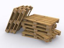 Stacked wooden pallets. Stacked wooden pallet on white background Stock Photography