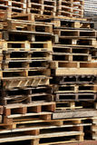 Stacked wooden pallets Stock Photo