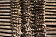 Stacked wooden panels Royalty Free Stock Image