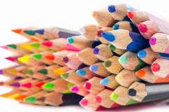 stacked wooden pencil. Stock Photos