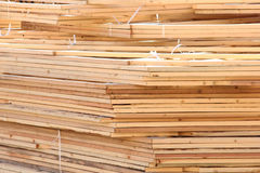 Stacked Wooden Rafters Royalty Free Stock Photography
