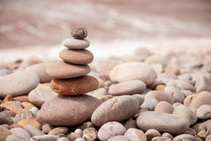 Stacked Zen Pebbles Horizontal Left Stock Images