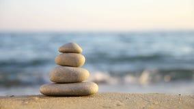 Stacked Zen stones stock footage