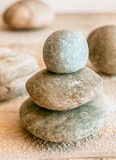 Stacked Zen stones Stock Photo