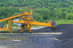 Stacker with a heap of coal Stock Photography