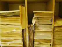 Stackes of envelopes stock image
