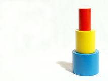 Stacking blocks. Colorful stacking blocks royalty free stock images