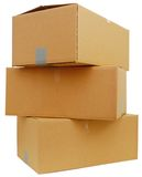 Stacking box parcels Royalty Free Stock Photo
