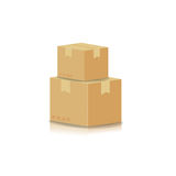 Stacking box  on white background vector illustration Stock Images