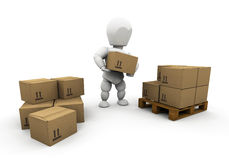 Stacking boxes Stock Photography