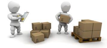 Stacking boxes Stock Photos