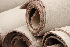Stacking carpet rolls. Close up on stacking carpet rolls Royalty Free Stock Photography