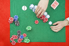 Stacking chips Stock Images
