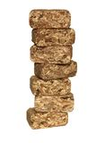 Stacking chips briquettes Stock Photos
