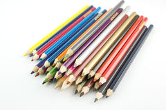 Stacking color pencil Stock Images