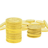 Stacking Gold Coins. Composite image of 1 ounce gold coins Royalty Free Stock Images