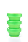 Stacking Green plastic cup. Stock Photo