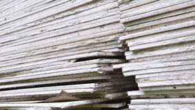 Stacking of gypsum sheets Stock Photos