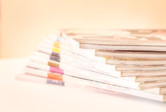 Stacking of magazines Royalty Free Stock Images