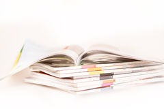 Stacking of magazines. Selective focus Royalty Free Stock Photography
