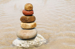 Stacking of pebbles Royalty Free Stock Photography