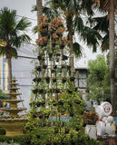 Stacking pots to build a green monument photo taken in Semarang Indonesia Stock Photos