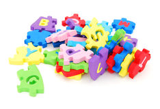 The stacking puzzle foam Royalty Free Stock Image
