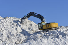 Stacking snow excavator Stock Photo