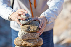 Stacking stones Royalty Free Stock Photography