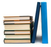 Stacking textbooks Royalty Free Stock Photo