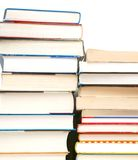 Stacking textbooks background. Expiration books collection is from library Royalty Free Stock Photography