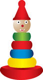 Stacking toy illustration Stock Photography
