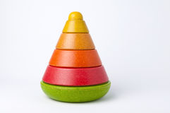 Wooden Stacking Toy Stock Image