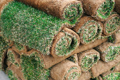 Stacking turf carpet Stock Photography