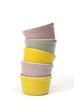 Stackof bowls Royalty Free Stock Photos