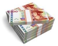 Stacks of 500 Swedish krona banknotes Royalty Free Stock Photos