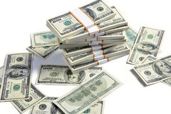 Stacks of american dollars Royalty Free Stock Photos