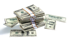 Stacks of american money Royalty Free Stock Images