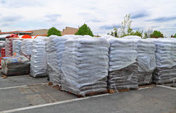 Bag Garden Mulch Soil Stock Image