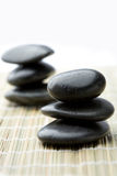 Stacks of black stones. Stock Photos