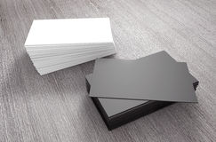 Stacks of Blank Business Cards. 3d Rendering Royalty Free Stock Photography
