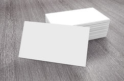 Stacks of Blank Business Cards. 3d Rendering Royalty Free Stock Images