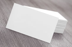 Stacks of Blank Business Cards. 3d Rendering Stock Photo