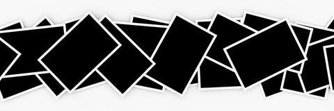 Stacks of blank photos Stock Photos