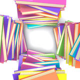 Stacks of books. Top view of four stacks of colored books. 3d illustration: book Royalty Free Stock Image