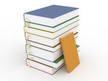 Stacks of books with bookmarks and empty covers Royalty Free Stock Photo